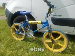 Raleigh Burner Mk1 Années 1980 Old School Bmx Yellow Skyway Wheels État D'origine