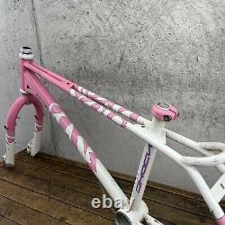 Raleigh Ultra Shock Old School Bmx Frame Set 80s Freestyle Pink Twin Top Tube