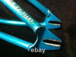 Rare Blue Ano Se Floval Flyer Frame & Landing Gear Forks Old School Bmx Set