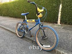 Véritable Phase 1 Mk1 Raleigh Blue Burner Old School Bmx, Véritable Barn Trouver