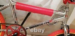 Vieille École Bmx Tonnerre Pro Chrome Stupéfiant 80s Chrome Bmx Vintage Mags Rares Bmx
