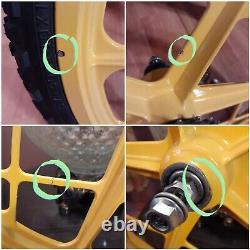 Vtg Mongoose Motomag 11's Bmx Roue Set/rims & Tires, Bendix Coaster, Oldschool