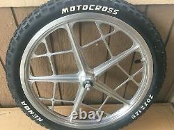 Vtg Old School Bmx Mongoose Motomag LL Wheelset Fits Redline Glg Dg Sweet
